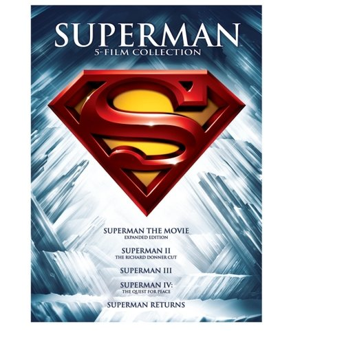 SUPERMAN 5 FILM COLLECTION (DVD/5 DISC/SUPERMAN 1-2-3-4&RETURNS)