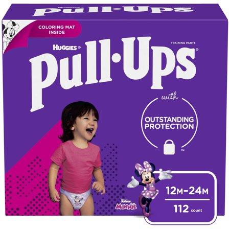 Pull-Ups Girls Learning Designs Training Pants, 12-24M, 112 Ct