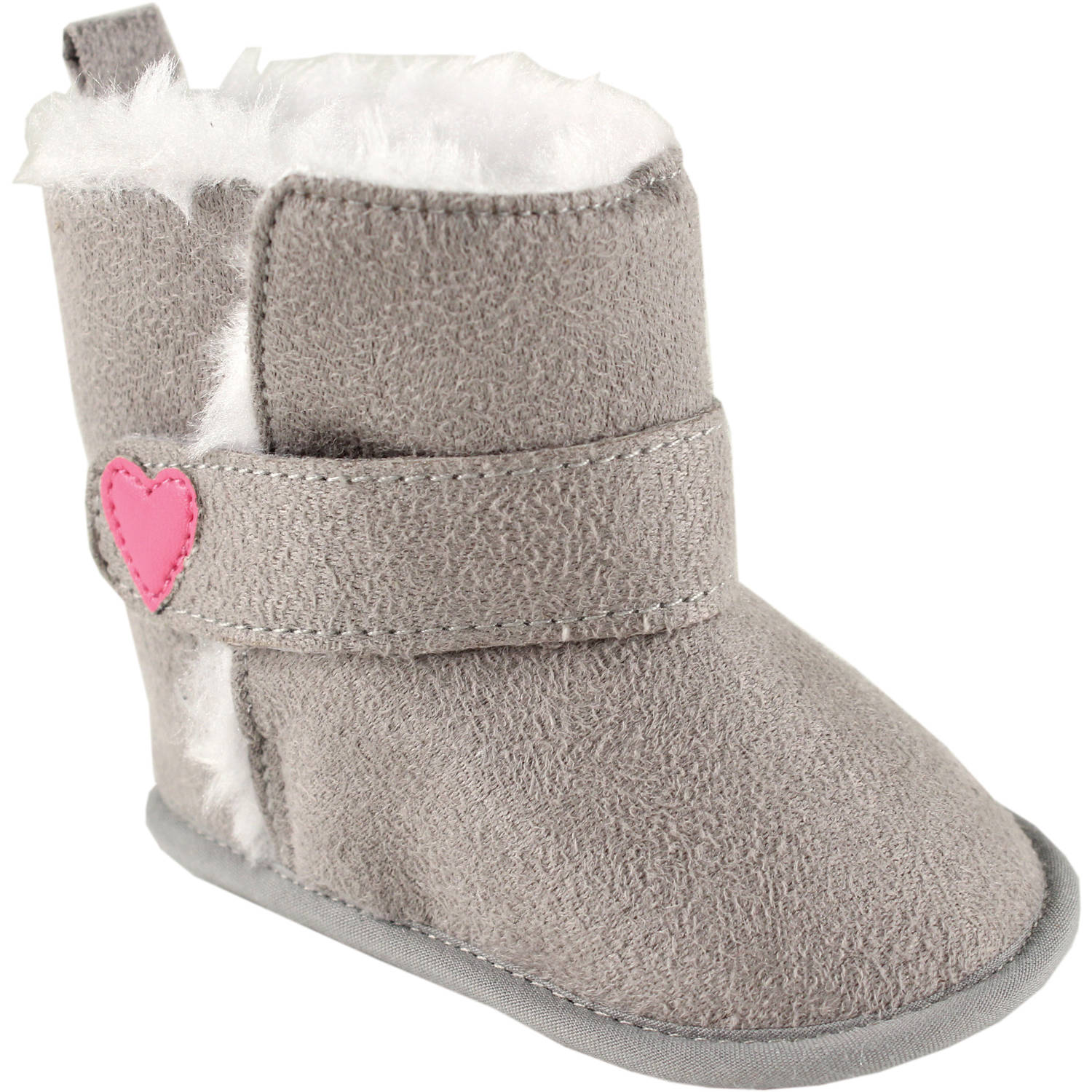 Luvable Friends Newborn Baby Girls Faux Suede Boots