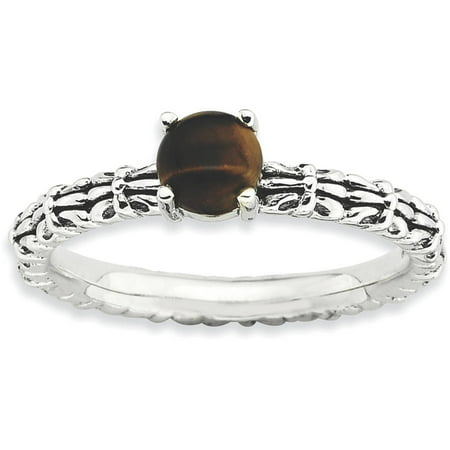 Tigers Eye Sterling Silver Antiqued Ring