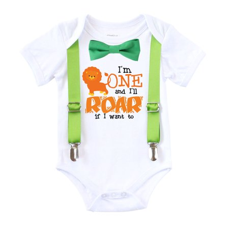Jungle First Birthday Shirt Zoo First Birthday Outfit 1st Birthday Shirt Green Bow Lime Suspenders Tie 24 months
