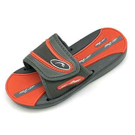 Just Speed Boys Sandals Colors (2, Grey Orange)