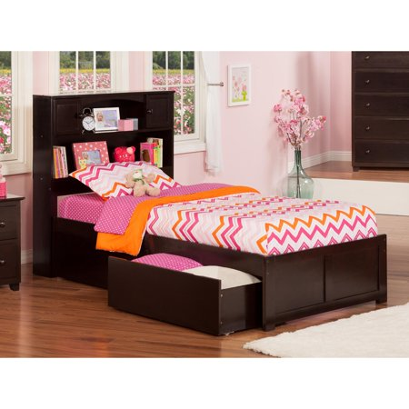Newport Platform Bed with Flat Panel Foot Board and 2 Urban Bed Drawers, Multiple Sizes, Multiple -