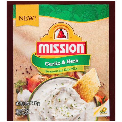 Mission Garlic & Herb Seasoning Dip Mix, .45 oz