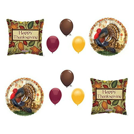 THANKSGIVING TURKEY DINNER BANQUET Balloons Decoration Supplies 10 pieces Party - Halloween Dinner Party Decorations