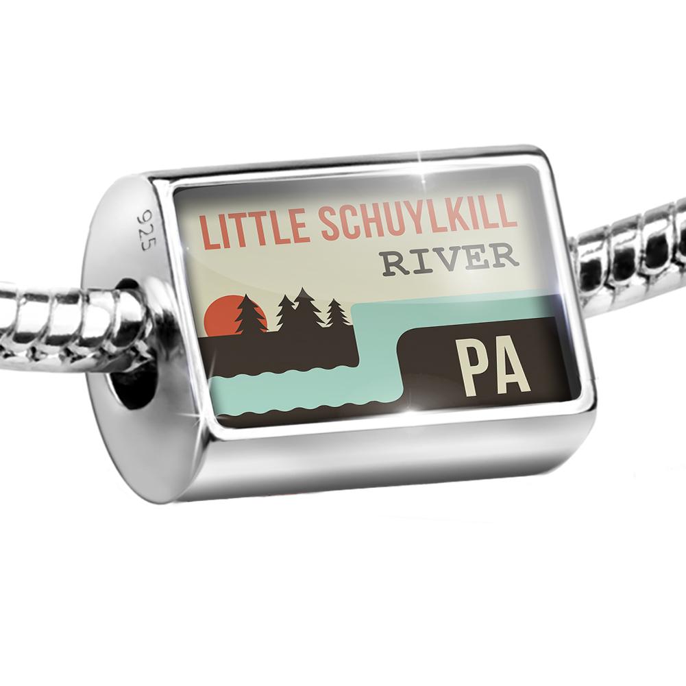 Bead USA Rivers Little Schuylkill River - Pennsylvania Charm Fits All European Bracelets