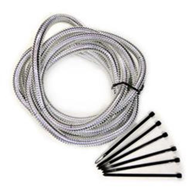 4521 Wire Loom - Chrome With 8 Foot Long 0.37 In. - image 1 de 1