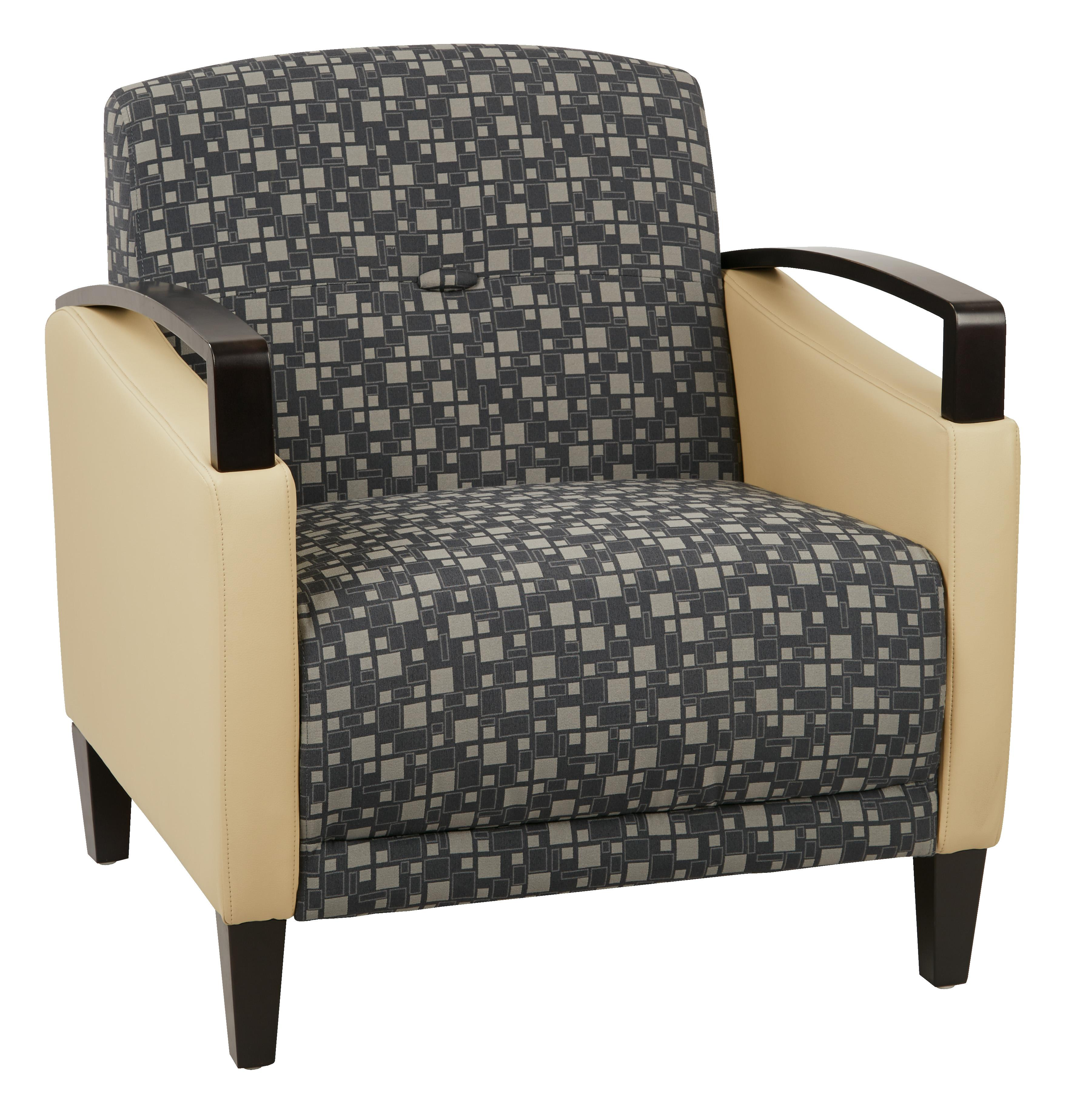 Main Street 2-Tone  Fabric Chair-Color:Steely & Buff