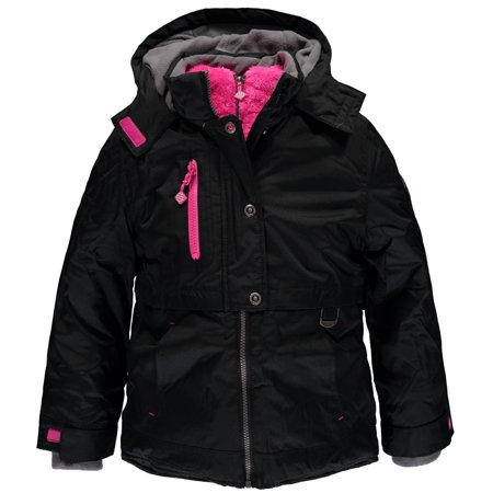 Little Girls 4-6X Heavyweight Snowboard Jacket (Black 4) (Ride Women Snowboard Jacket)
