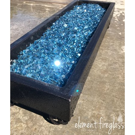 """Pacific Blue Reflective 1/4"""" Fire Pit Glass, 10 lbs"""