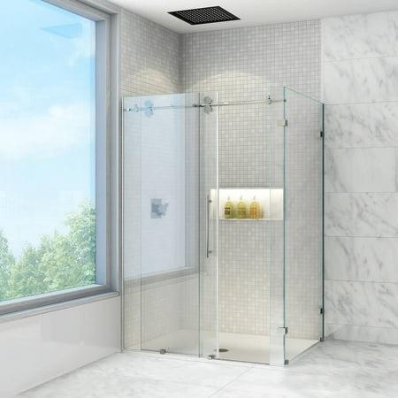 Vigo 36 X 60 Frameless 3 8 Clear Stainless Steel Shower