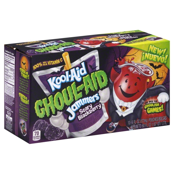 Kool-Aid Ghoul-Aid Jammers Scary Blackberry Drink, 6 Fl. Oz., 10 Count
