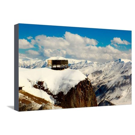 Peace Monument, Caucasus Mountains, Border of Russia and Georgia, Central Asia, Asia Stretched Canvas Print Wall Art By Laura - Georgian Border
