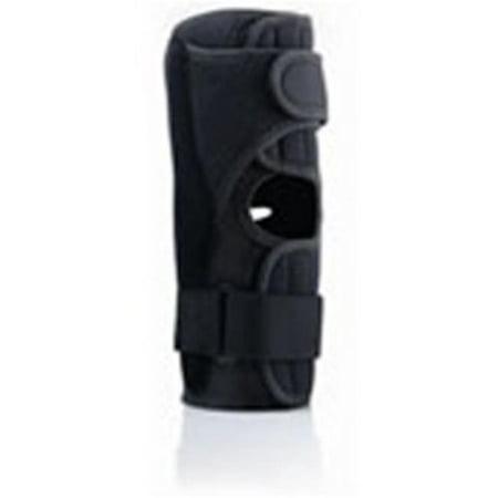 Pro-Lite Airflow Wrap - Around Hinged Knee Brace Black, Large