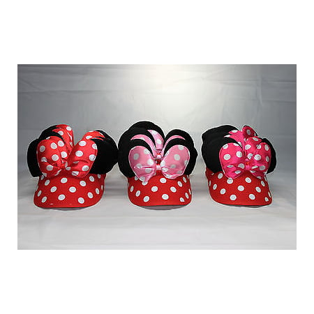 Headband Visor - LWS LA Wholesale Store  10 Minnie Mickey Sun Visor Hat Headbands black Polka Dot Ears Party Favors
