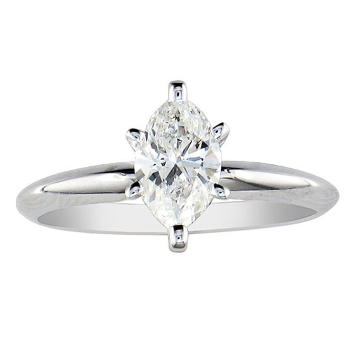 SuperJeweler 1/4ct Marquise Cut Diamond Engagement Ring i...