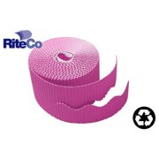 RiteCo Raydiant 22814 Riteco Trim-It Corrugated Scalloped Decorative Border. Two .25 In. X 50 Ft. Strips Per Roll Black, 6 Rolls