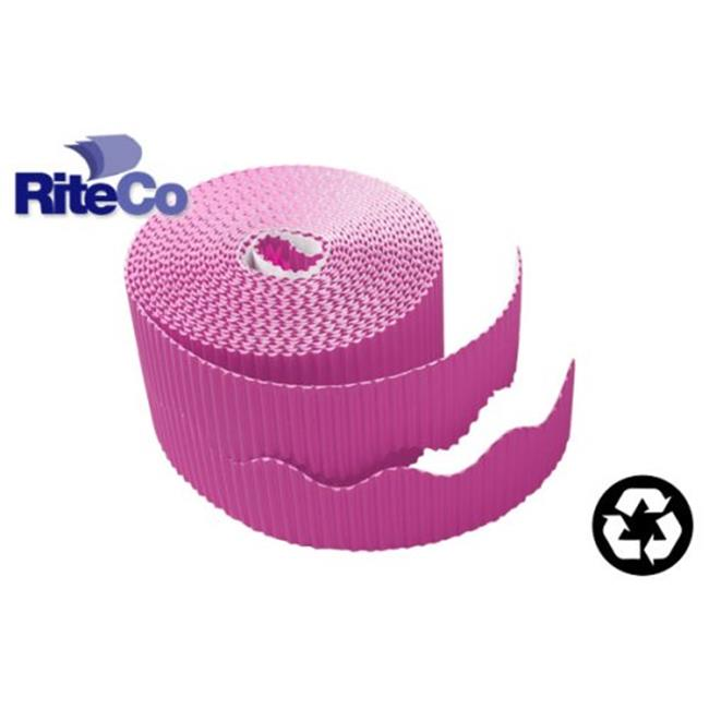 RiteCo Raydiant 22805 Riteco Trim-It Corrugated Scalloped Decorative Border. Two .25 In. X 50 Ft. Strips Per Roll Purple, 6 Rolls