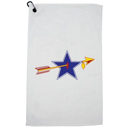 Classic Redskin vs Cowboy Rivalry Game Golf Towel with Carabiner Clip - Redskin Vs Cowboys