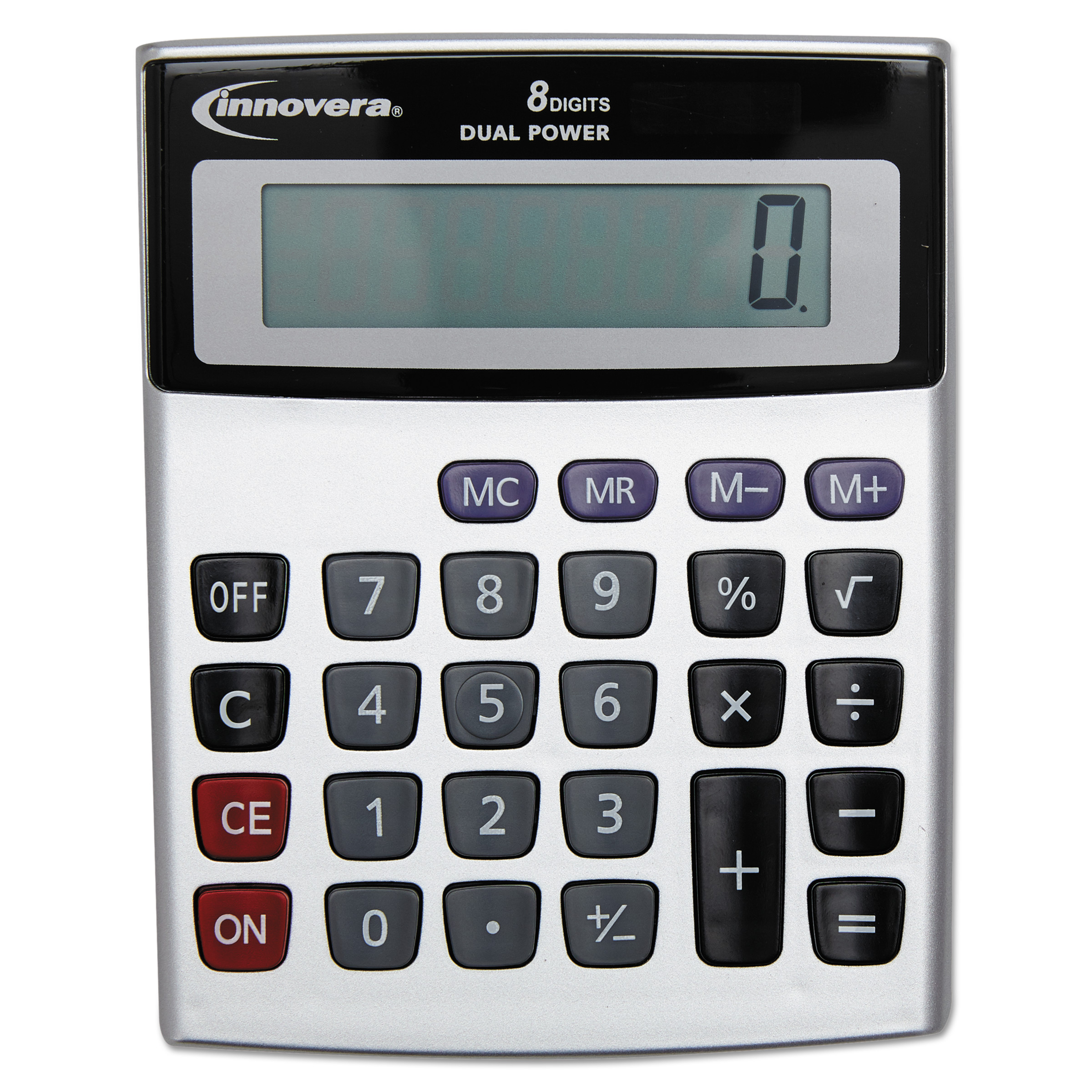 Innovera Portable Minidesk Calculator, 8-Digit LCD