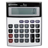 Innovera Portable Minidesk Calculator, 8-Digit LCD