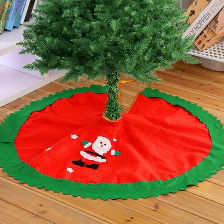 Holiday Clearance Santa Claus Christmas Tree Skirt Xmas Holiday Decoration Ornament Home Party Tree Skirt Mat Apron