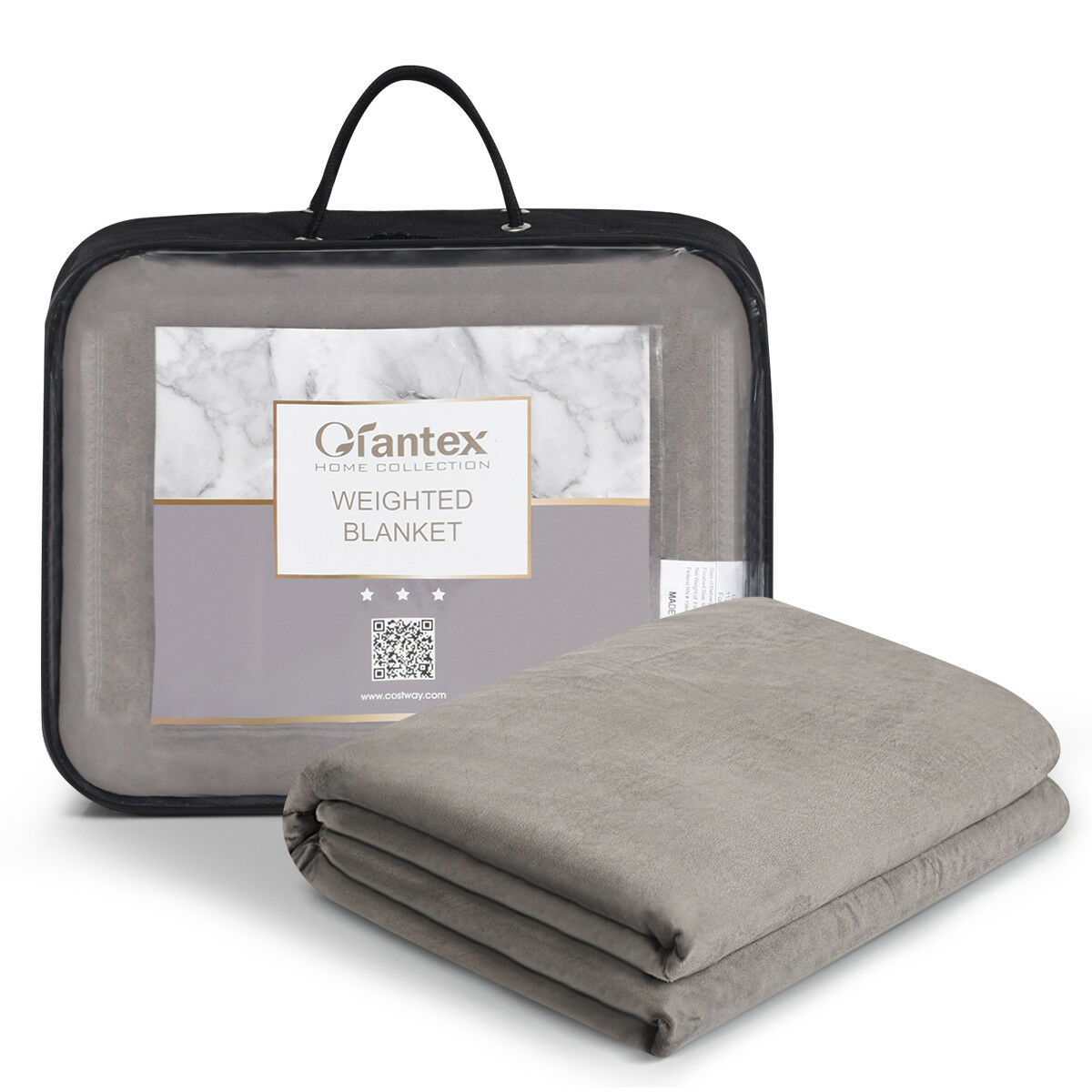Heavy Gravity Sensory Weighted Blankets Full/Queen/King Size w/Cover Glass Beads