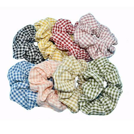 Colorful Velvet Hair Scrunchies Set Elastic Hair Bobbles Hair Accessories - image 7 de 7