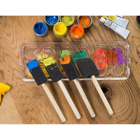 20-Pack Foam Paint Brush Set - 4 Different Sizes Poly Foam Sponge Brushes with Wooden Handles - Value Pack - Great for Acrylics, Oil Stains, Varnishes, Watercolor, Painting, Crafts, Art - image 6 de 7