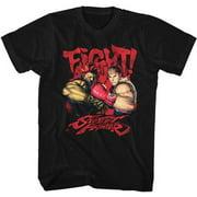 Street Fighter Men's  Fight Slim Fit T-shirt Black