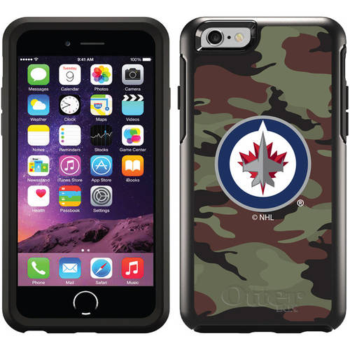 Winnipeg Jets Traditional Camo Design on OtterBox Symmetry Series Case for Apple iPhone 6