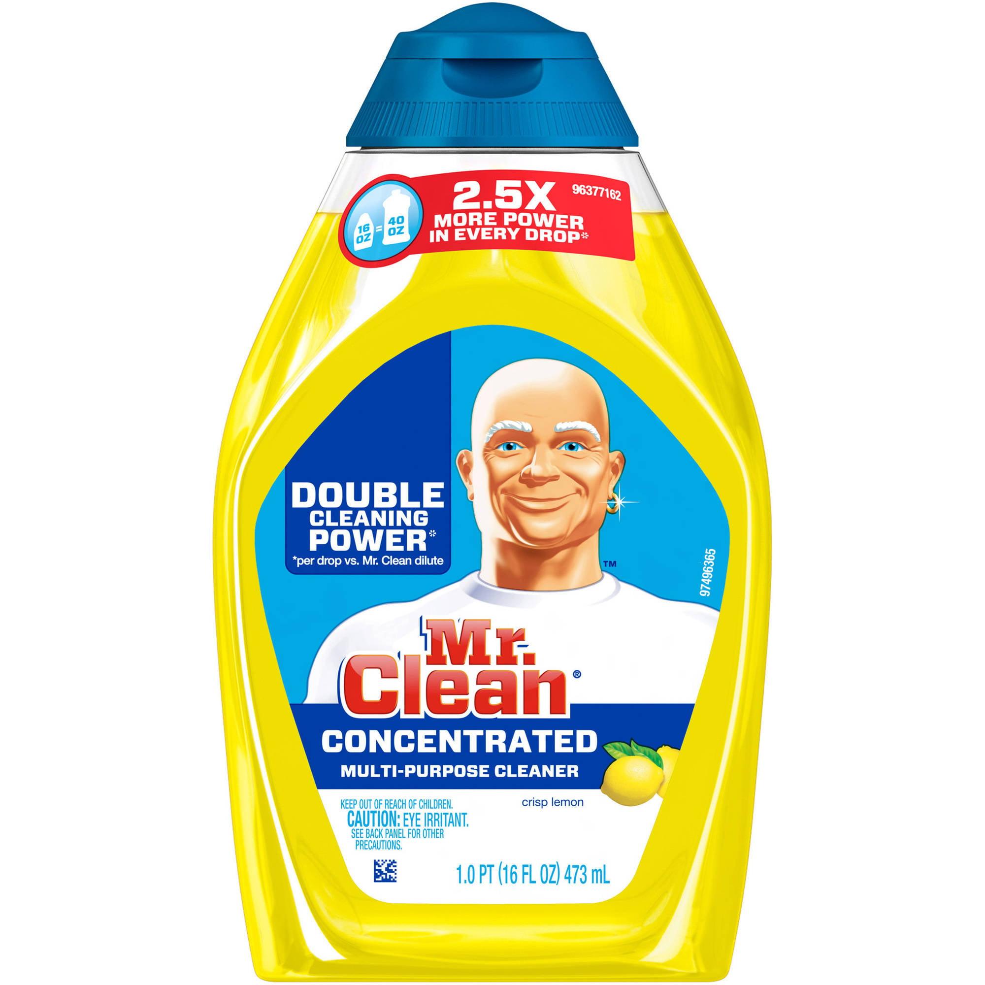 Mr. Clean Crisp Lemon Scent Concentrated Multi-Purpose Cleaner, 16 fl oz