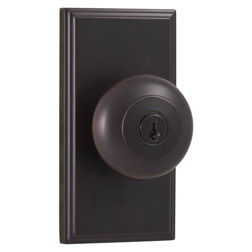 Weslock 3740I Impresa Keyed Entry Door Knob with Woodward Rose from the Elegance