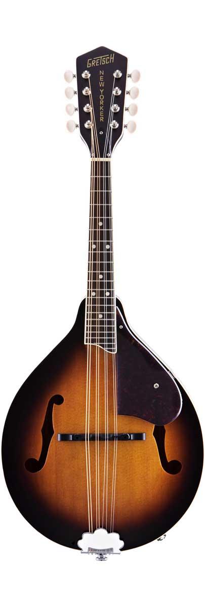 Gretsch G9320 New Yorker Deluxe A.E. A-Style Mandolin Piezo Pickup Sunburst by Gretsch
