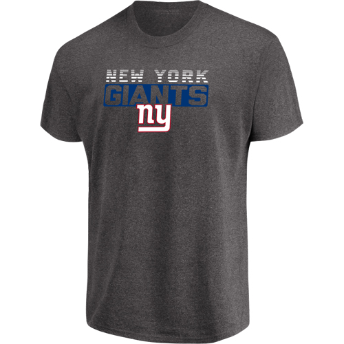Men's Majestic Heathered Charcoal New York Giants Come Into Play T-Shirt