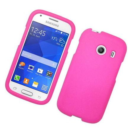 Insten Hard Rubber Case For Samsung Galaxy Ace Style - Hot Pink ()