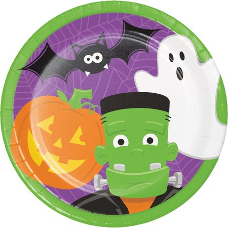 Pack of 96 Green Halloween Characters Disposable Party Luncheon Plate 8.75