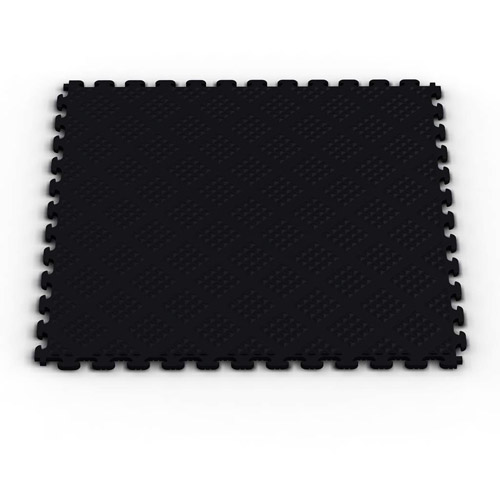 Norsk NSMPRD6BLK Raised Diamond Pattern PVC Floor Tiles, 13.95-Square Feet, Black, 6-Pack