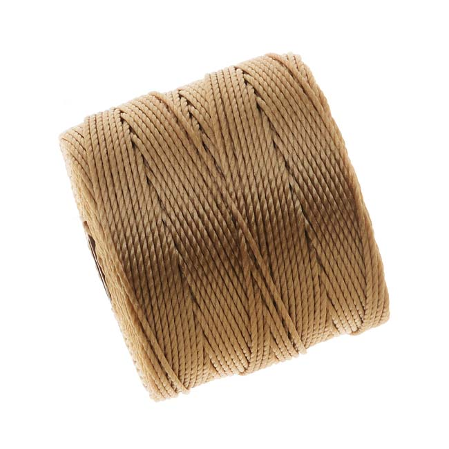 BeadSmith Super-Lon (S-Lon) Cord - Size #18 Twisted Nylon - Light Brown / 77 Yard Spool