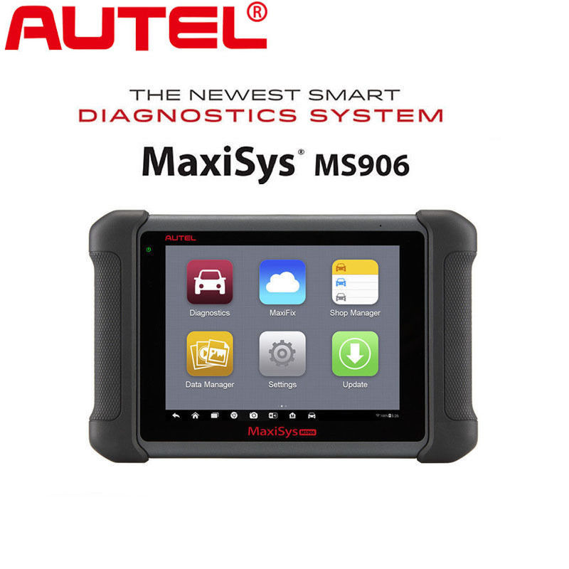 Autel Maxisys MS906 OBDII&Automotive Diagnostic Scanner (Upgraded version of DS708) Full OBDI Kits with OE-level vehicle coverage of Read/Erase Codes, Actuation Tests, Adaptations etc