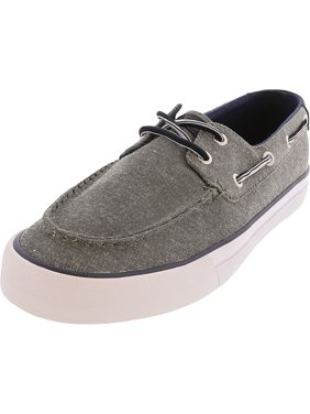 Tommy Hilfiger Men's Petes Dark Gray Ankle-High Cotton Boating - 11M