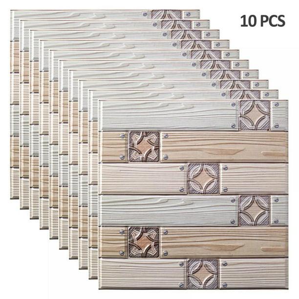 1 10pcs Three Dimensional Tile Stickers Pvc Wall Stickers Peel And Stick Kitchen Backsplash Self Adhesive Wall Tile Stone Design 3d Wall Panel Marble Decorative Wallpaper Walmart Com Walmart Com