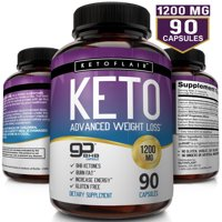 NutriFlair Keto Advanced Weight Loss Supplement, 1200 mg, 90 Capsules