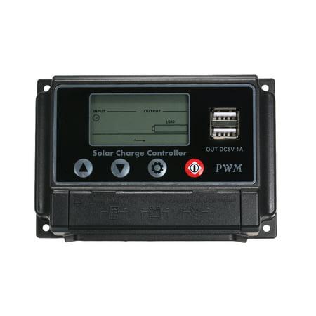 30a Digital Charge Controller - 30A 12V 24V Digital Display Solar Charge Controller Dual USB Pwm Waterproof Dustproof