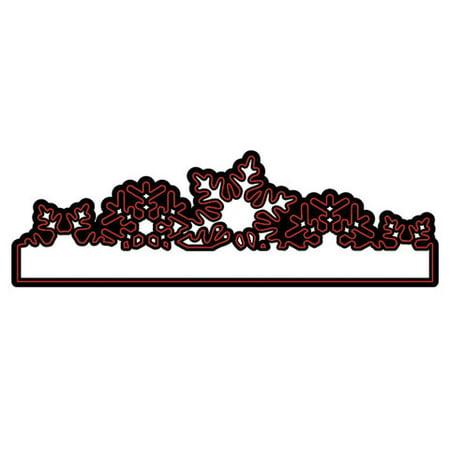 Die Cut Emboss Stencil Snowflake Border By Darice