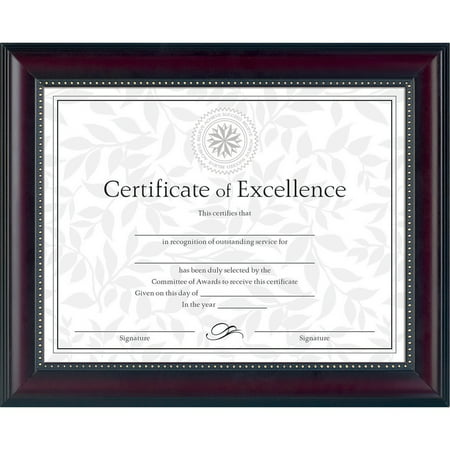 Dax Prestige Document Frame Rosewoodblack Gold Accents