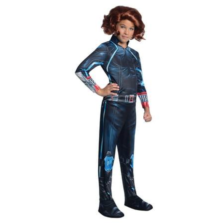 Marvel Little Girls Black Widow Avengers Halloween Costume Dress Up Outfit - Black Widow Halloween Costume Dress