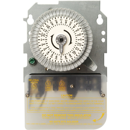 Woods 40-Amp 120-Volt SPST 24-Hour Mechanical Time Switch, Replacement Mechanism Only, 59101M