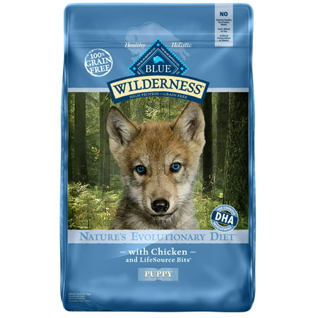 Blue Buffalo Wilderness Chicken High Protein Natural Puppy Dry Dog Food,