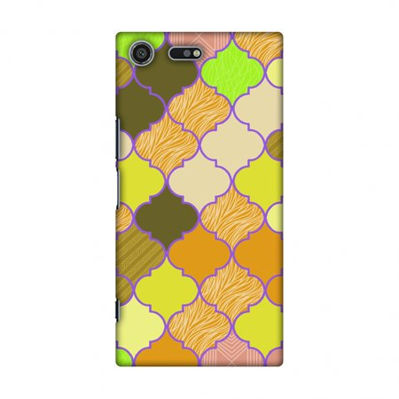 Sony Xperia XZ Premium Case - Stained glass- Chocolate orange, Hard Plastic Back Cover, Slim Profile Cute Printed Designer Snap on Case with Screen Cleaning